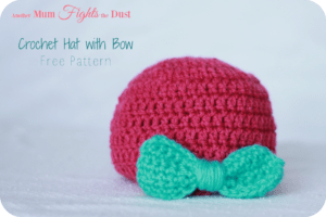 Crochet Baby Hat with Bow