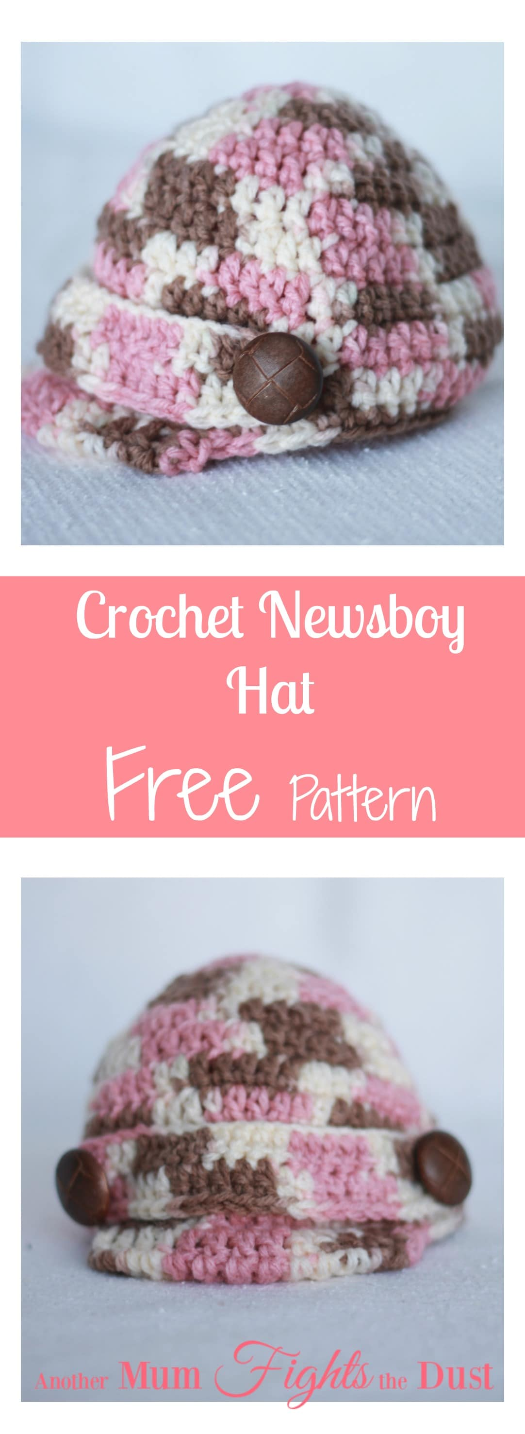 Crochet Baby Newsboy Hat - Another Mum Fights the Dust