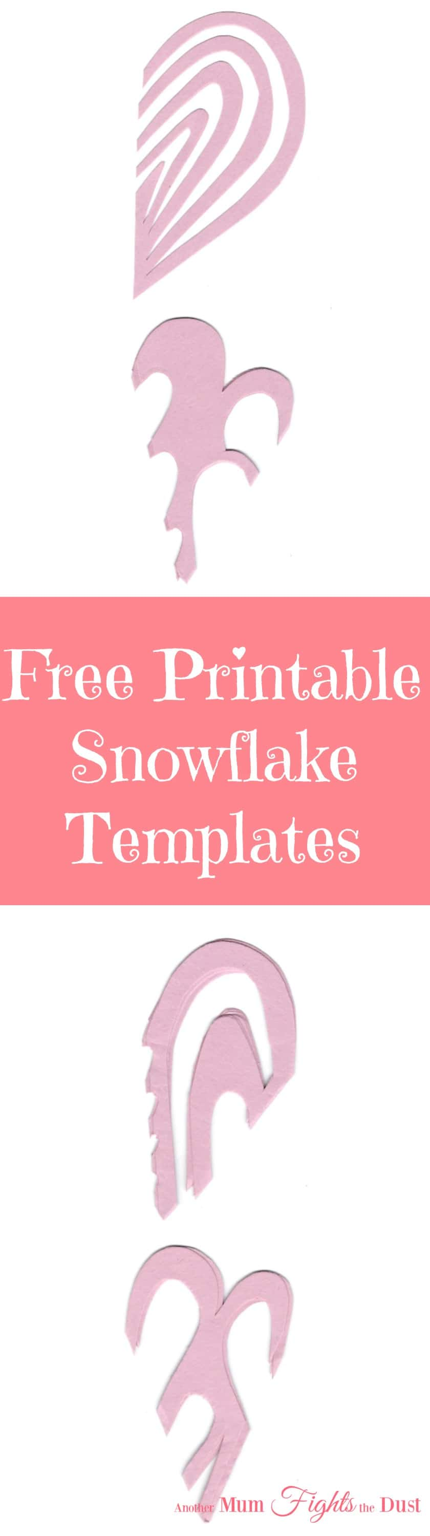 Valentine's Day Snowflakes Free Printable Template