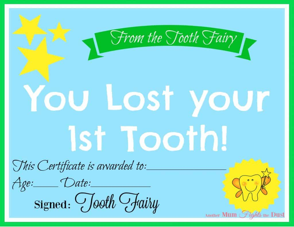 thumbnail of Blue Tooth Fairy Certificate