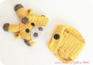 Crochet Giraffe Hat and Diaper Cover Pattern