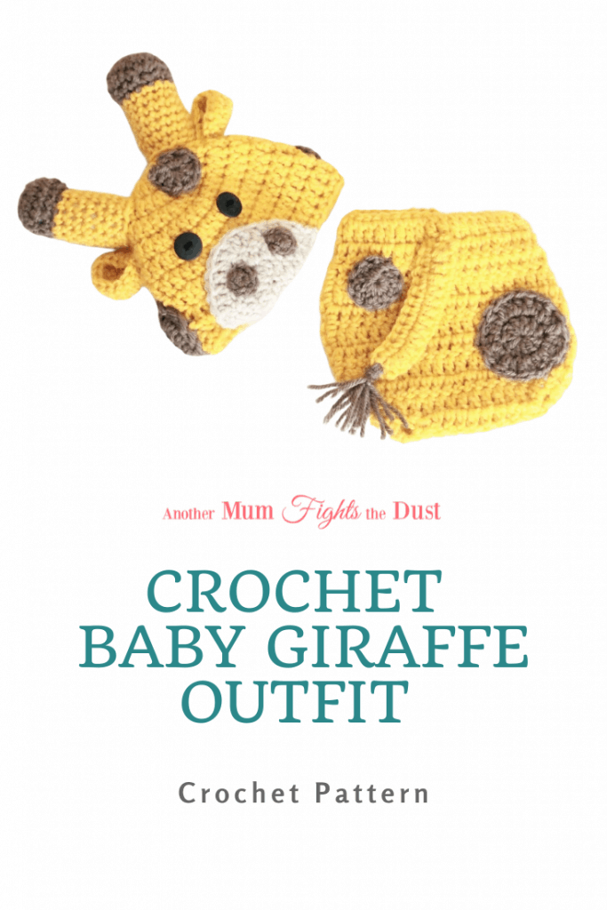 This Crochet Giraffe Outfit Pattern includes sizes 0-12 months.  The crochet pattern is easy enough for experienced beginners.  Get the crochet pattern here.