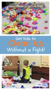 Getting Kids to clean up can make any parent lose their mind. If you struggle with fighting with your kids to get them to help clean up, check out my tips to get your kids cleaning up even the biggest messes in no time.