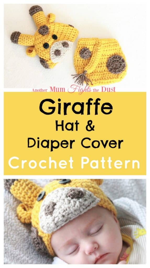 Crochet Giraffe Hat and Diaper Cover