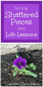 Life Lessons from a broken pot, from a Christian perspective.