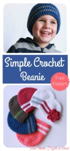 Simple Crochet Beanie Free Pattern