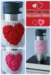 This easy crochet pattern for a heart cup cozy makes the perfect Valentine's Day gift for that special someone in your life.