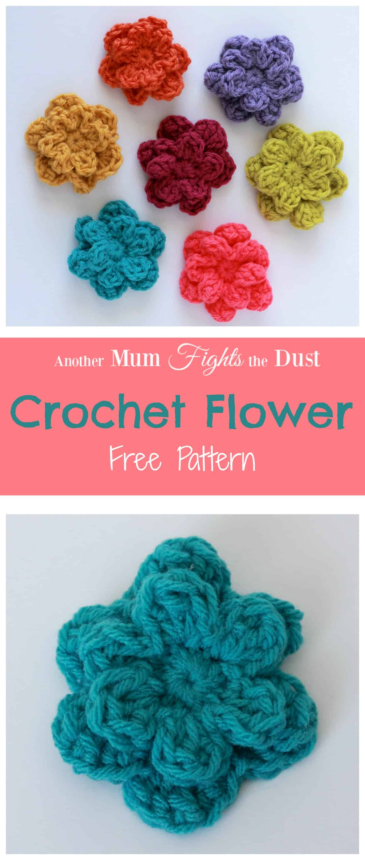 Crochet Flower Pattern - Another Mum Fights the Dust