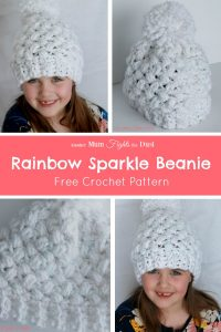 Rainbow Sparkle Beanie Crochet Pattern