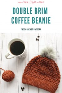 Double Brim Coffee Beanie Crochet Pattern