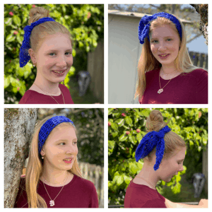 Ways to wear the lattice crochet hair tie